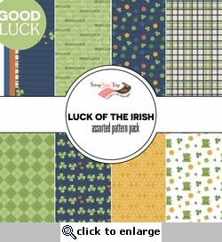 Luck of the Irish Assorted 12 x 12 Paper Pack