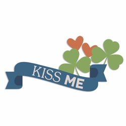 Luck of the Irish: Kiss Me Laser Die Cut