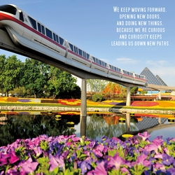 Magic: Epcot Monorail 12 x 12 Paper