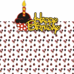 Magic Moments: Happy Birthday Girl 2 Piece Laser Die Cut Kit