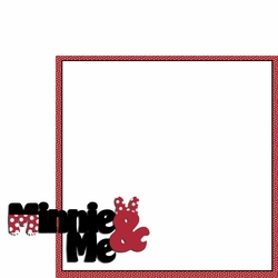Magic Moments: Minnie and Me 2 Piece Laser Die Cut Kit