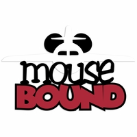 Magic Moments: Mouse Bound plane Laser Die Cut