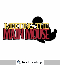 Main Mouse Laser Die Cut