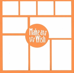 Make A Wish 12 x 12 Overlay Laser Die Cut