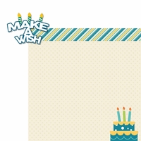 Make A Wish: Make A Wish Boy 2 Piece Laser Die Cut Kit