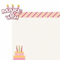Make A Wish: Make A Wish Girl 2 Piece Laser Die Cut Kit