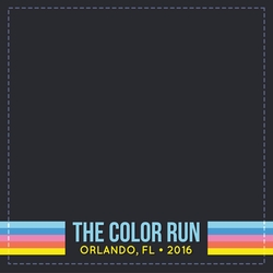 Marathons: Color Run Custom 12 x 12 Paper