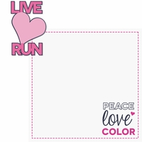 Marathons: Peace, Love, Color 2 Piece Laser Die Cut Kit