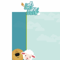 2SYT March: Lion Lamb 2 Piece Laser Die Cut Kit