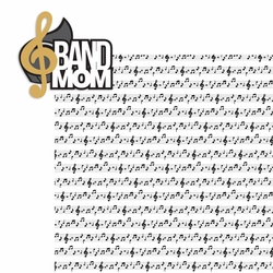 Marching Band: Band Mom Laser Die Cut
