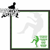 Martial Arts: Martial Artist 2 Piece Laser Die Cut Kit