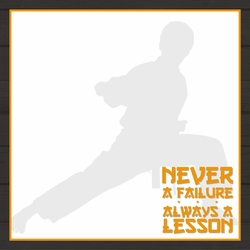 Martial Arts: Never Giving Up 12 x 12 Paper