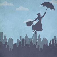 Mary Poppins: Practically Perfect 12 x 12 Paper
