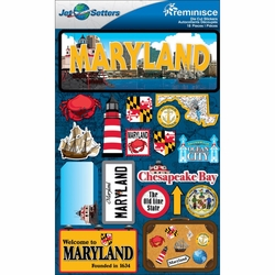 Maryland Jet Setters Dimensional Stickers