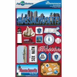 Massachusetts Jet Setters Dimensional Stickers
