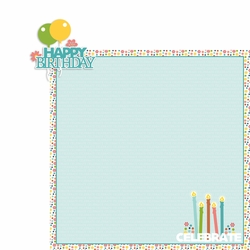 May: Birthday 2 Piece Laser Die Cut Kit