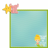 Mermaid: Sweet Girl 2 Piece Laser Die Cut Kit