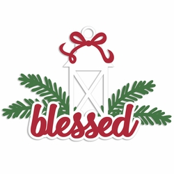 Merry Christmas: Blessed Laser Die Cut