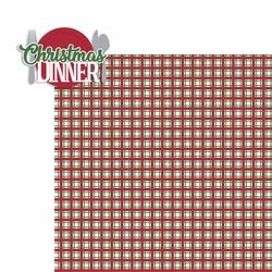 1SYT Merry Christmas: Christmas Dinner 2 Piece Laser Die Cut Kit