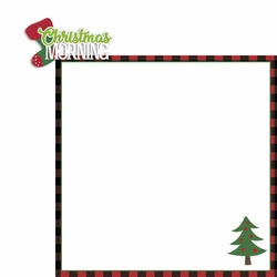 Merry Christmas: Christmas Morning 2 Piece Laser Die Cut Kit