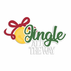 Merry Christmas: Jingle all the way Laser Die Cut