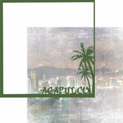1SYT Mexico: Acapulco 12 x 12 Overlay Quick Page Laser Die Cut