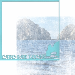 1SYT Mexico: Cabo San Lucas 12 x 12 Overlay Quick Page Laser Die Cut