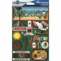 Mexico Jet Setters Dimensional Stickers