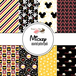 Mickey Assorted 12 x 12 Paper Pack
