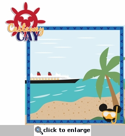 Mickey Cruise: Castaway Cay 2 Piece Laser Die Cut Kit
