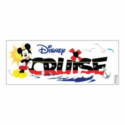 Mickey Cruise Disney Title Dimensional Stickers