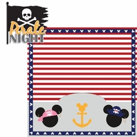 Mickey Cruise:  Pirate Night 2 Piece Laser Die Cut Kit