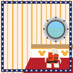 Mickey Cruise: Towel Animal 12 x 12 Paper