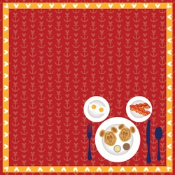 Mickey Cruise: Yummy Foods 12 x 12 Paper