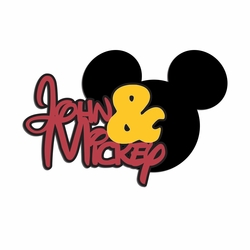 Mickey: Custom Name and Mickey Laser Die Cut