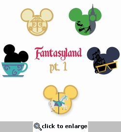 Mickey Head: Fantasy Land Kit 1 Laser Die Cuts