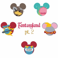 Mickey Head: Fantasy Land Kit 2 Laser Die Cuts