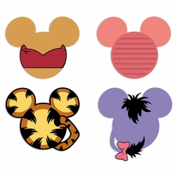 Mickey Head: Pooh and Friends Laser Die Cut