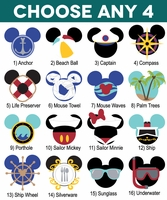 Mickey Heads: Cruise Die Cuts