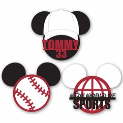 Mickey Heads: Custom Baseball Die Cuts