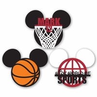 Mickey Heads: Custom Basketball Die Cuts
