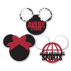 Mickey Heads: Custom Cheer Die Cuts