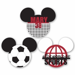 2SYT Mickey Heads: Custom Soccer Die Cuts
