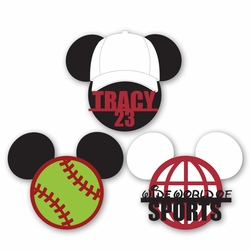 Mickey Heads: Custom Softball Die Cuts