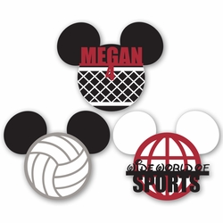 Mickey Heads: Custom Volleyball Die Cuts
