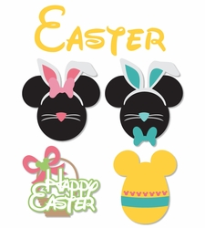 2SYT Mickey Heads: Easter Mouse Head Die Cuts