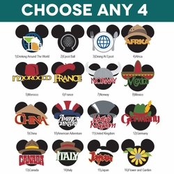 Mickey Heads: EPCOT Die Cuts