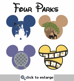 Mickey Heads: Four Parks Mouse Head Die Cuts