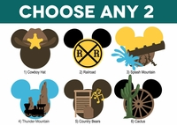 Mickey Heads: Frontierland Mouse Head Die Cuts