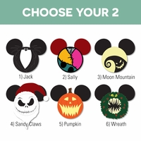 Mickey Heads: Nightmare Before Christmas Laser Die Cuts